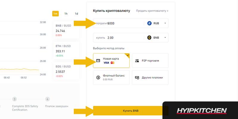покупка криптовалюты BNB