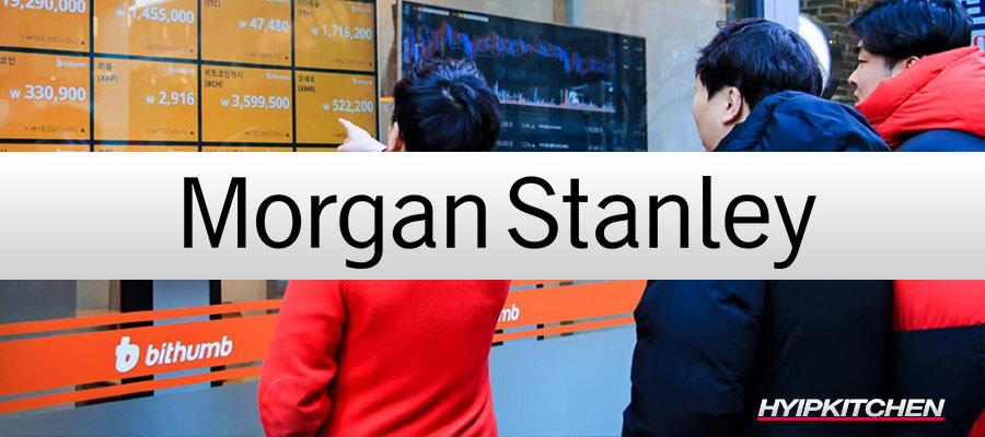 Morgan Stanley планирует приобрести биткоин-биржу Bithumb
