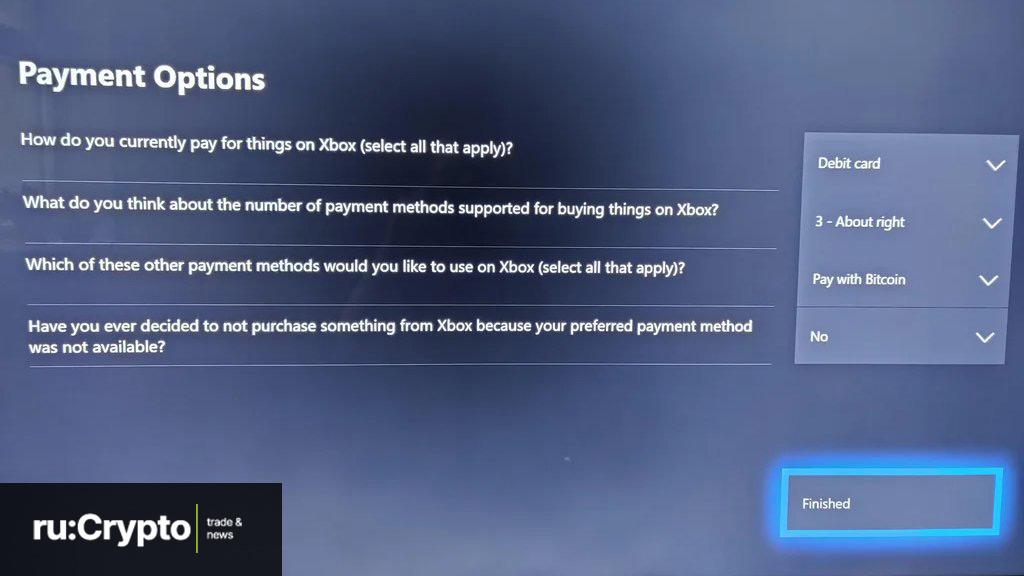 Microsoft Xbox Bitcoin 2021 opros