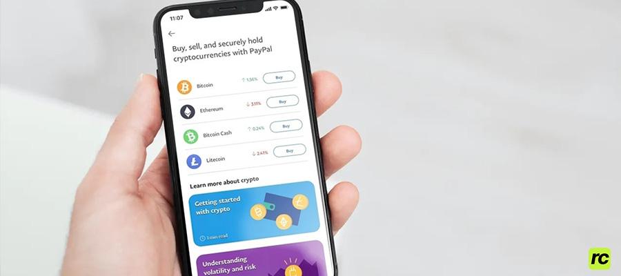 PayPal криптовалюты
