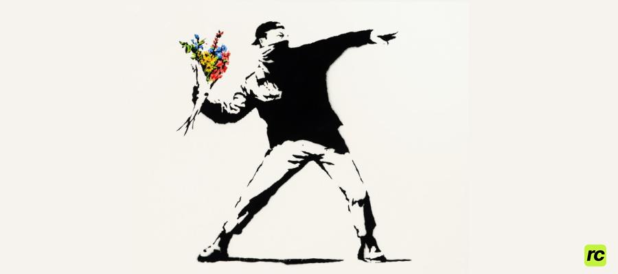 Banksy Любовь витает в воздухе