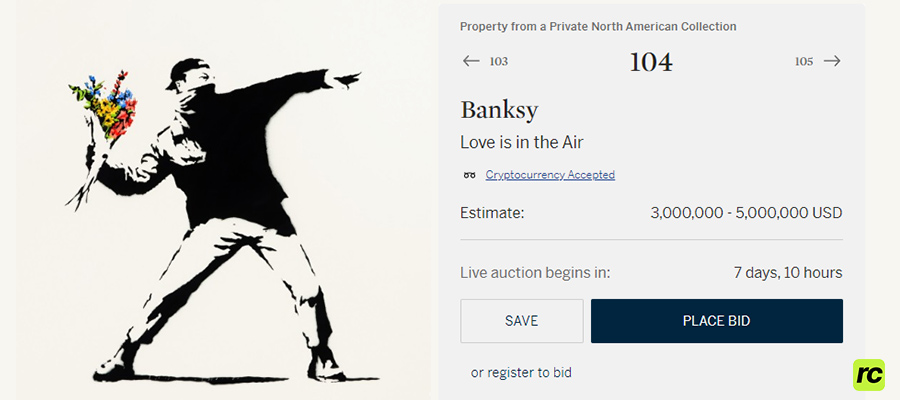 Sothebys Banksy Love is in the Air