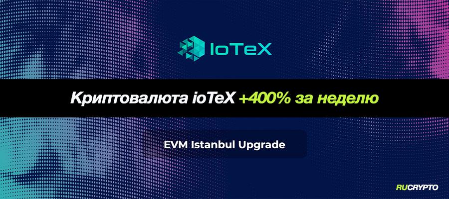Криптовалюта IoTeX (IOTX) выросла за неделю на 400% после поддержки Coinbase и Binance
