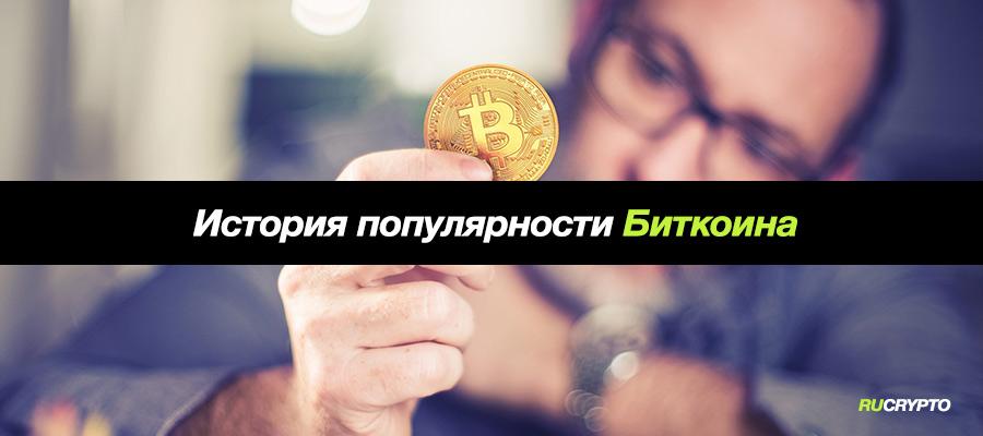 История роста популярности Биткоина (Bitcoin) с 2008 года